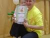 Самый юный победитель фестиваля Семенова Юля с папой